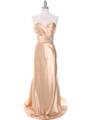 7704 Gold Evening Dress