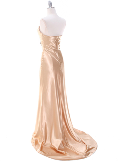 7704 Gold Evening Dress - Gold, Back View Medium