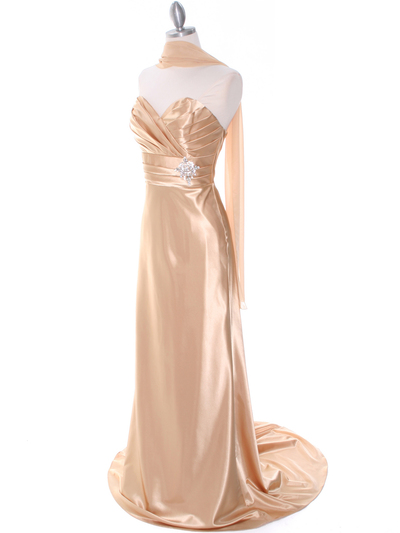 7704 Gold Evening Dress - Gold, Alt View Medium
