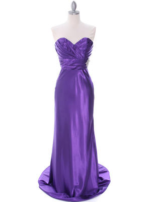 7704 Purple Evening Dress, Purple