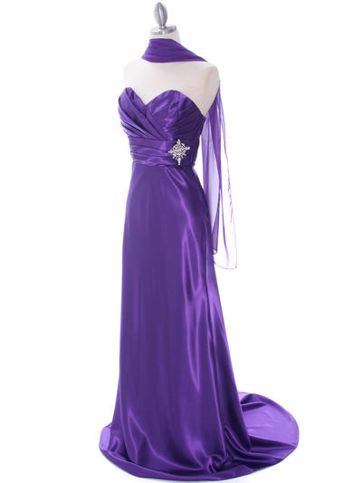 7704 Purple Evening Dress - Purple, Alt View Medium