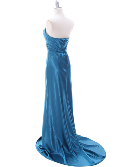 7704 Teal Bridesmaid Dress - Teal, Back View Medium