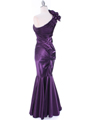 7710  Eggplant Evening Dress - Back Image