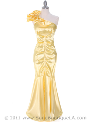 7710 Yellow Evening Dress, Yellow