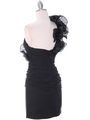 7712 Black Cocktail Dress - Black, Back View Thumbnail