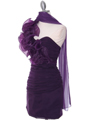 7712 Eggplant Cocktail Dress - Eggplant, Alt View Thumbnail