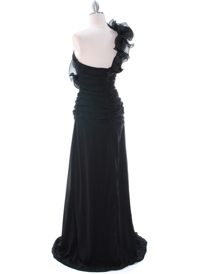 7713 Black Evening Dress - Black, Back View Medium