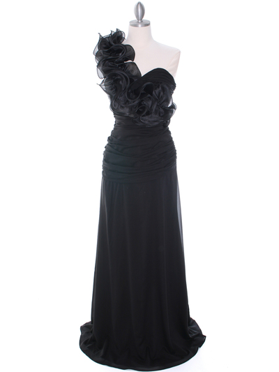 7713 Black Evening Dress - Black, Front View Medium
