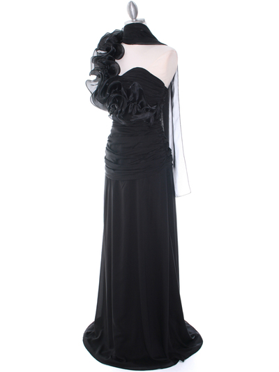 7713 Black Evening Dress - Black, Alt View Medium