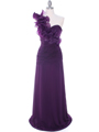 7713 Eggplant Evening Dress - Eggplant, Front View Thumbnail