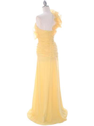 7713 Yellow Prom Evening Dress - Yellow, Back View Medium