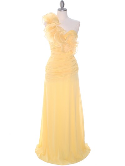 7713 Yellow Prom Evening Dress - Yellow, Front View Medium