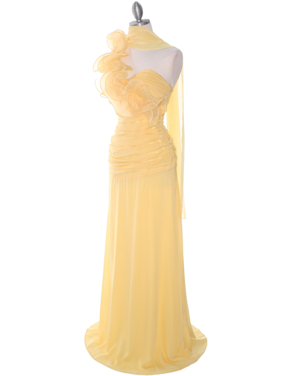 7713 Yellow Prom Evening Dress - Yellow, Alt View Medium