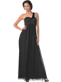 7748 One Shoulder Empire Waist Evening Dress
