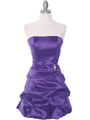 7749 Purple Bubble Hem Cocktail Dress - Purple, Front View Thumbnail