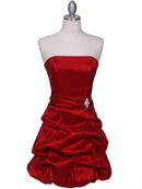 Red Tafetta Bubble Cocktail Dress