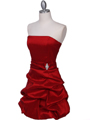 7749 Red Tafetta Bubble Cocktail Dress - Red, Alt View Thumbnail