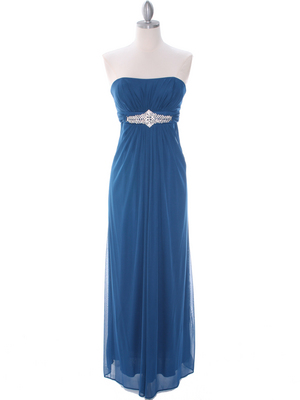Teal Evening Dress - Front Image