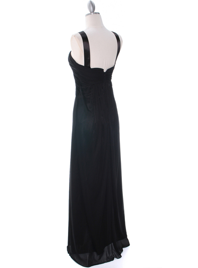 7771 Black Evening Dress - Black, Back View Medium