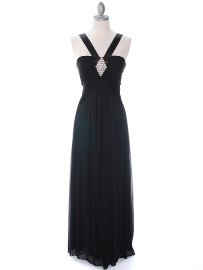 7771 Black Evening Dress - Black, Front View Medium