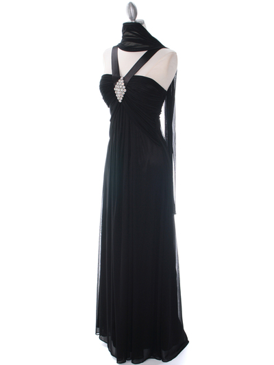 7771 Black Evening Dress - Black, Alt View Medium