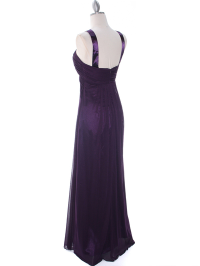 7771 Purple Evening Dress - Purple, Back View Medium
