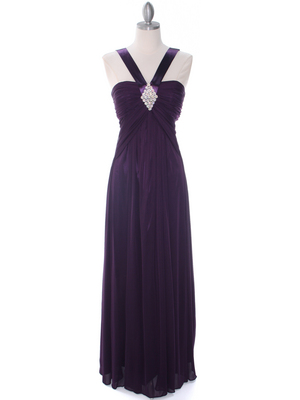 7771 Purple Evening Dress, Purple