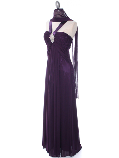 7771 Purple Evening Dress - Purple, Alt View Medium
