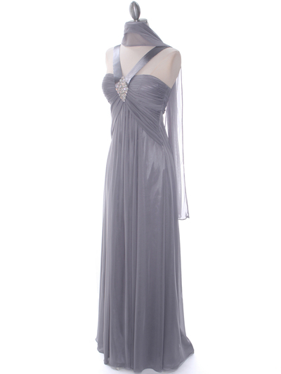 7771 Silver Evening Dress - Silver, Alt View Medium