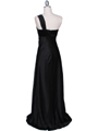 Black One Shoulder Evening Dress - Back Image