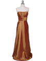 7811 Gold Tafetta Evening Dress - Gold, Front View Thumbnail