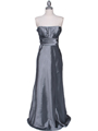 7811 Silver Tafetta Evening Dress