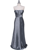 7811 Silver Tafetta Evening Dress, Silver