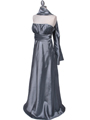 7811 Silver Tafetta Evening Dress - Silver, Alt View Thumbnail