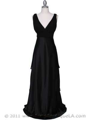 7812 Black Evening Dress, Black