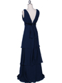 7812 Navy Evening Dress - Navy, Back View Thumbnail