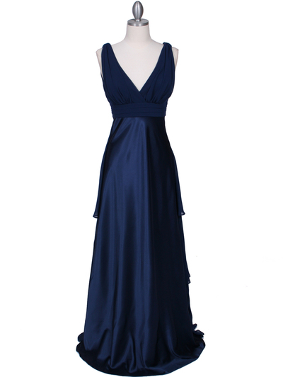 7812 Navy Evening Dress - Navy, Front View Medium