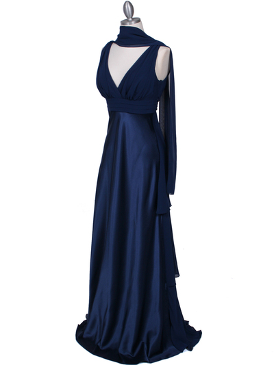 7812 Navy Evening Dress - Navy, Alt View Medium