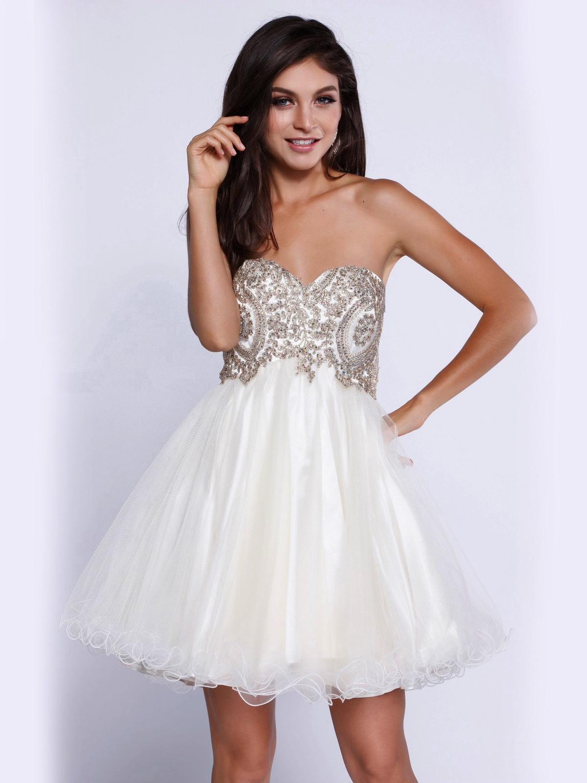 Strapless Sweetheart Short Prom Dress Sung Boutique L A