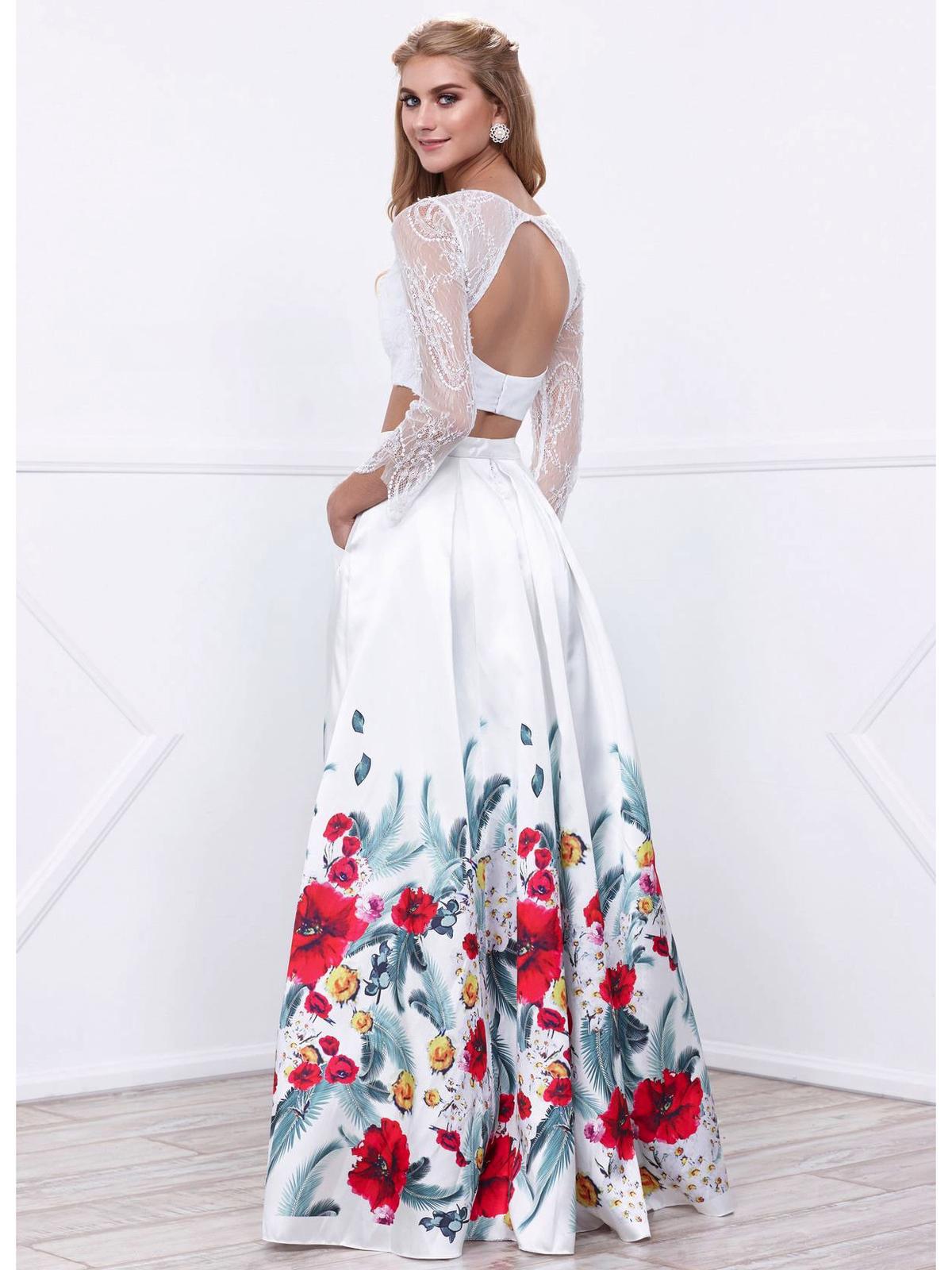 Long sleeve two piece homecoming dress nairobi from