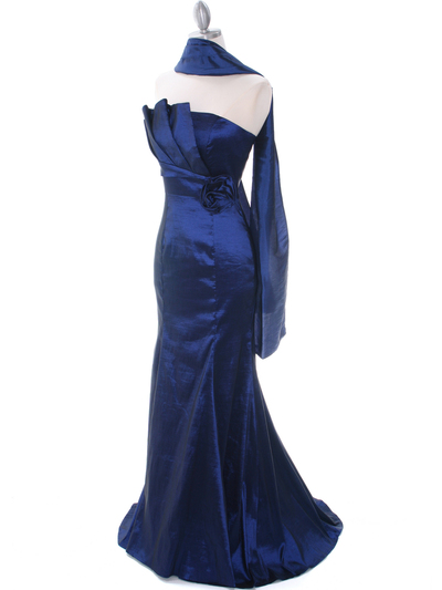 8034 Navy Evening Gown - Navy, Alt View Medium