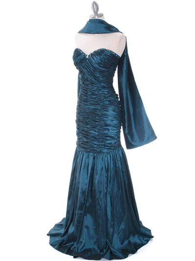 8040 Teal Prom Gown - Teal, Alt View Medium