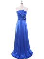 8067 Royal Blue Charmeuse Bridesmaid Evening Dress