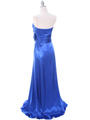 8067 Royal Blue Charmeuse Bridesmaid Evening Dress - Royal Blue, Back View Thumbnail