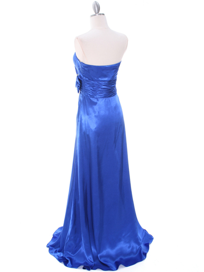 8067 Royal Blue Charmeuse Bridesmaid Evening Dress - Royal Blue, Back View Medium