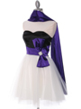 8104 Black/Purple Homecoming Dress with Bow - Black Purple, Alt View Thumbnail