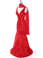 8112  Red Stretch Taffeta Evening Dress - Alt. Image