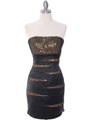 8137 Black/Gold Sequin Party Dress