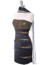8137 Black/Gold Sequin Party Dress - Black Gold, Alt View Thumbnail
