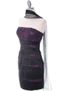 8137 Black/Purple Sequin Party Dress - Black Purple, Alt View Thumbnail